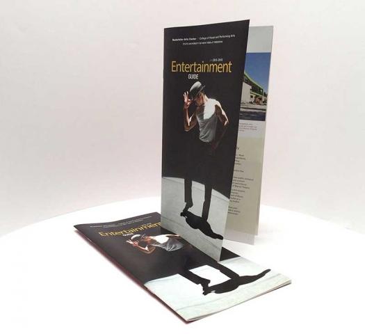 Four-color saddle-stitched brochure for the Rockefeller Arts Center