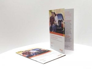 Voya financial tri-fold marketing
