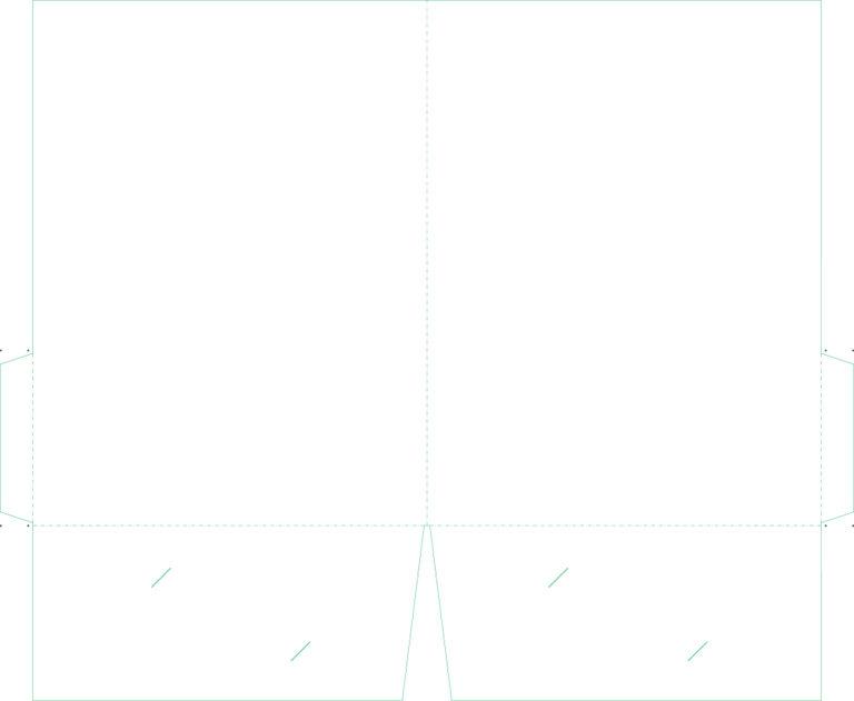 B 9 9x12 Folder Dieline Template