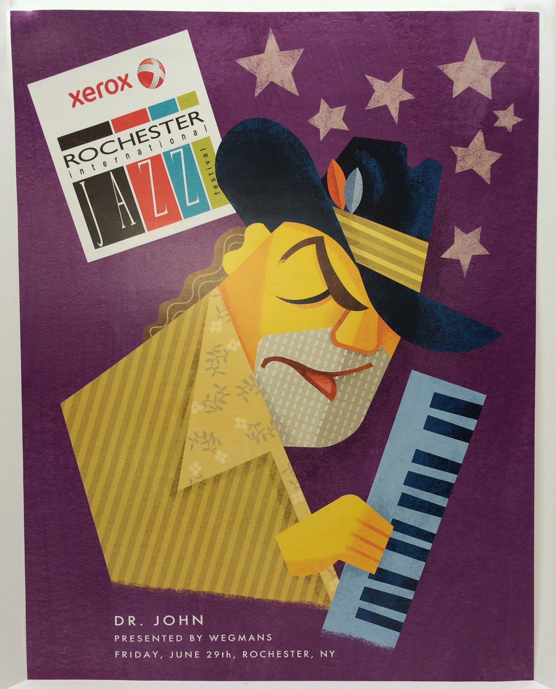 Wide-Format, artist promo poster for 2013 Rochester Jazz Festival